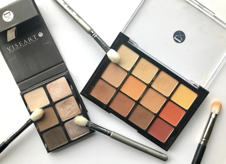 Viseart Cashmere and Warm Matte Eyeshadow Palettes